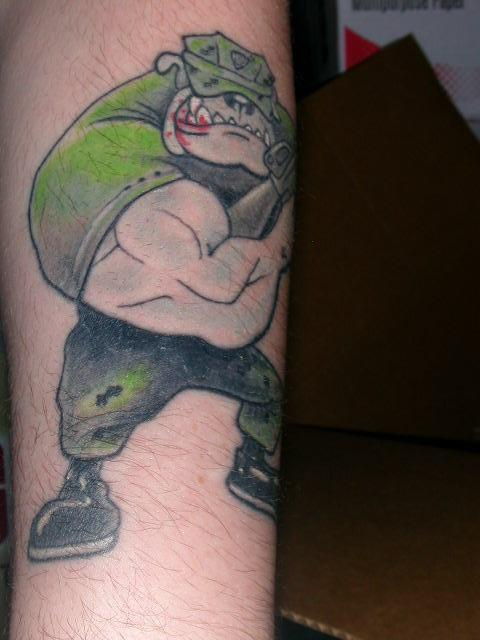 Military Bulldog Tattoo