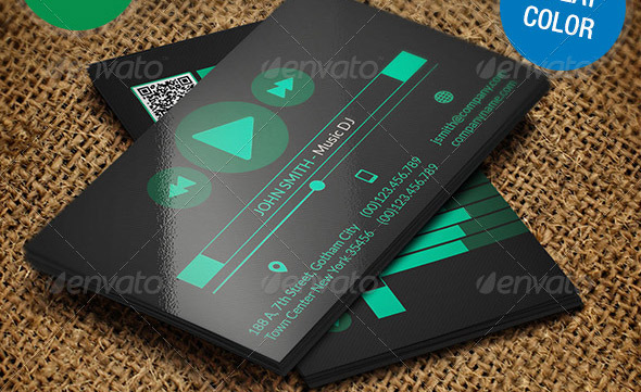 23 great music business card psds desiznworld music dj creative business card 198 reheart Image collections