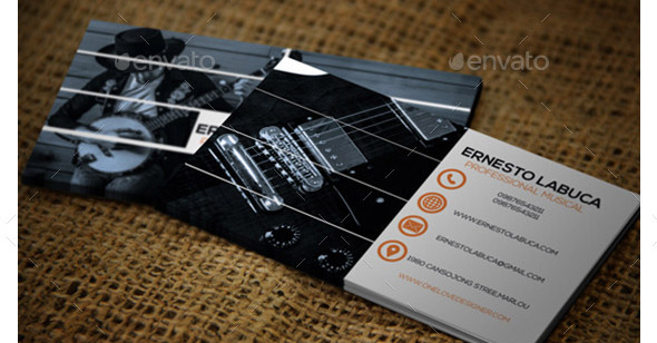 musical business card - Music Business Cards