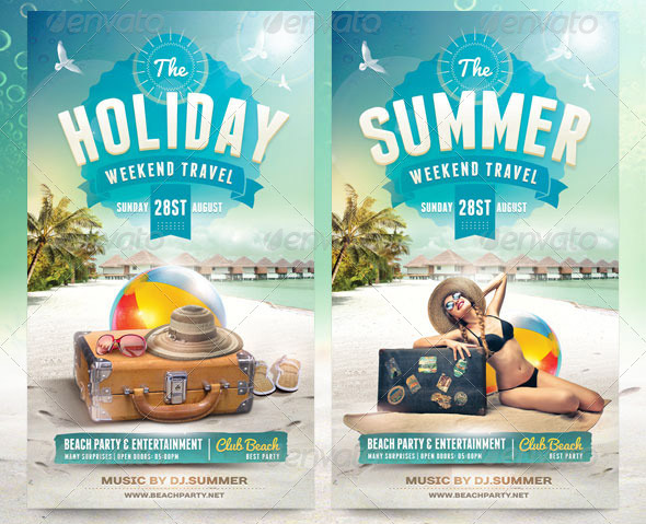 Nice Holiday Flyer Templates  Desiznworld