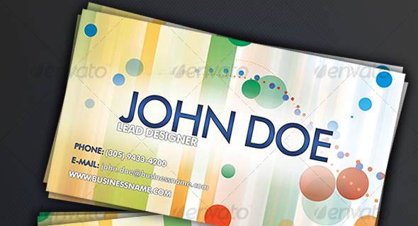 09 Colorful Business Card