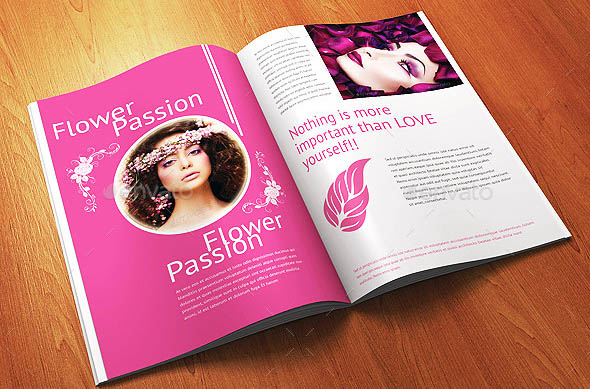 12 Pages Minimal Woman Fashion Magazine Template