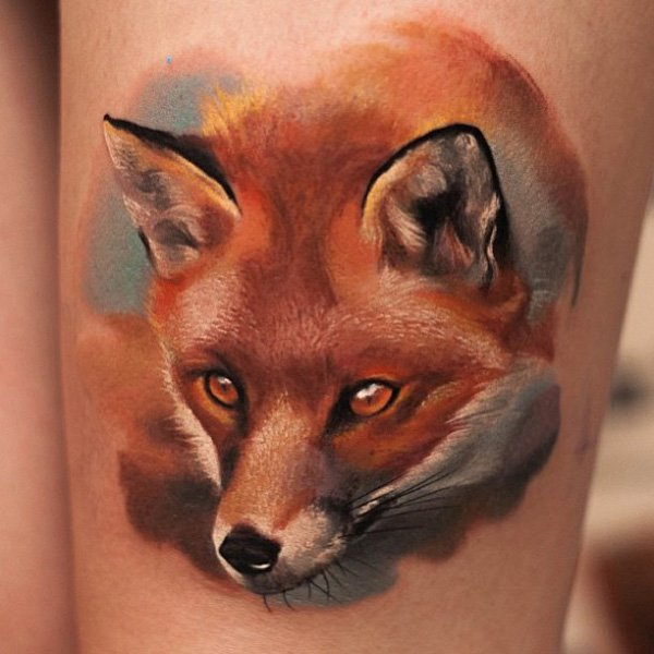 3D Fox Tattoo
