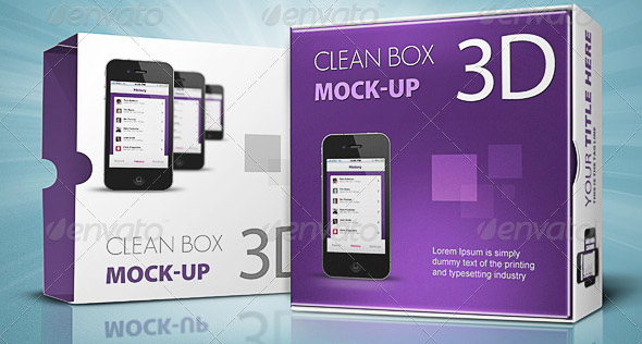 Clean Box 3D Mock-up