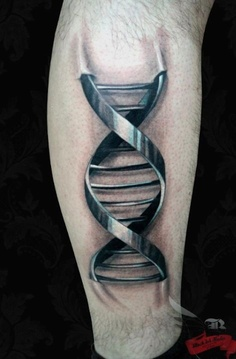 Clean Metallic DNA 3D Tattoo For Boys