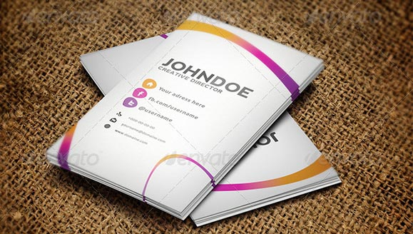 Colorful Business Card template 2012