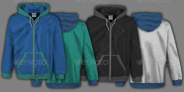 Complete Male Hoodie Mock Up