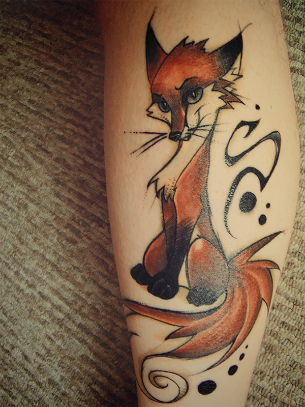 Cute Fox Tattoo