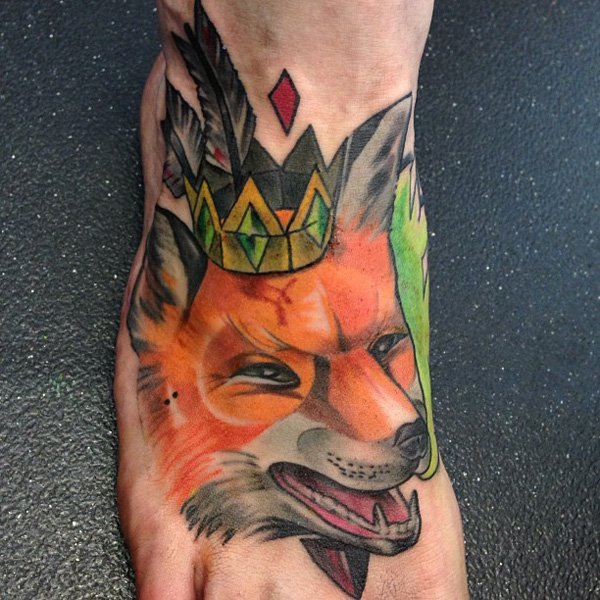 Fox Tattoo on Foot