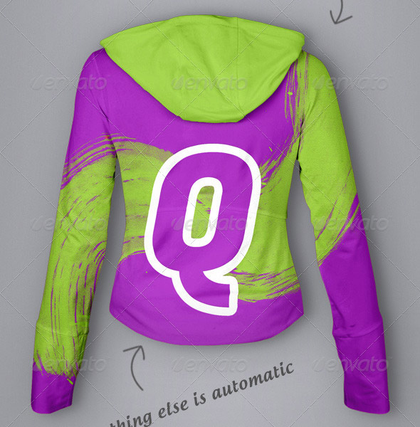 Hoodie Mock-Up Ladies Version