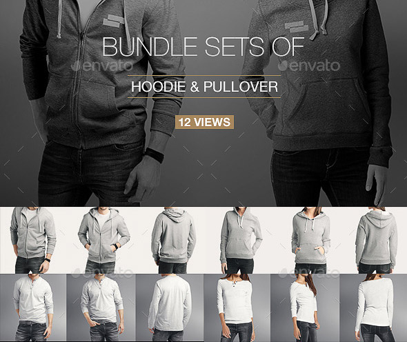 Hoodie Pullover Bundle Mock up