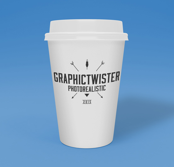 PSD Photorealistic Coffee Cup Mockup 18