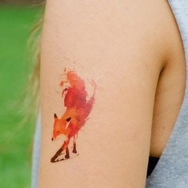 Small Fox Tattoo
