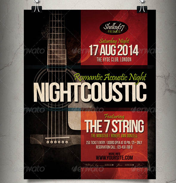 Acoustic Music Flyer Poster