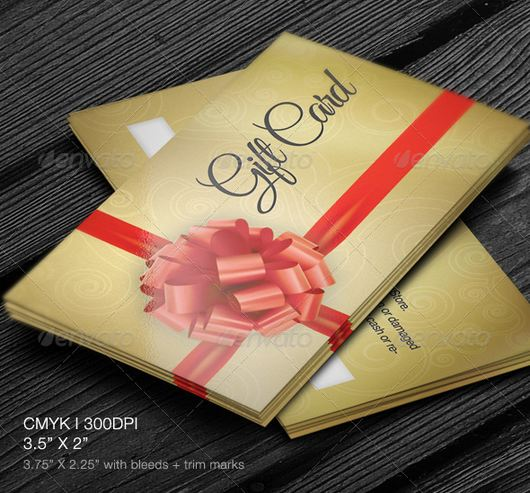 Elegant Golden gift cards