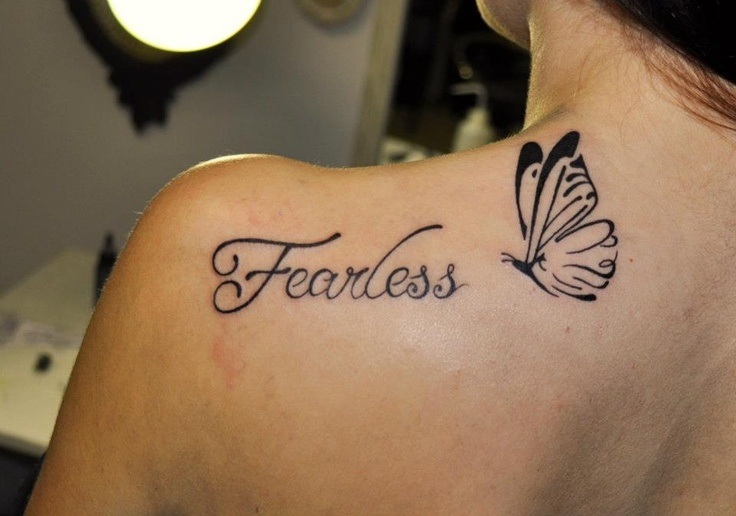 Fearless Tattoo with Butterfly