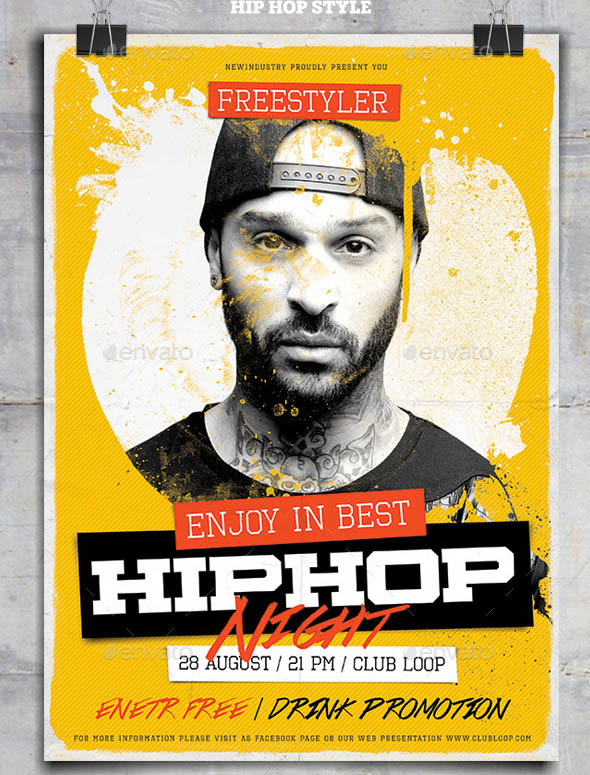 HipHop Night PosterFlyer