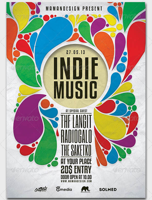 Indie Music Flyer Poster