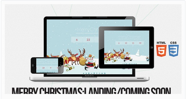 Merry Christmas - Illustrated-Animated LESS Theme