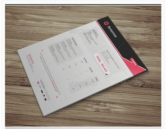 Professional Invoice Template Vol.5