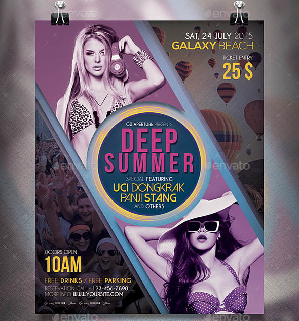 Summer Music Flyer Poster