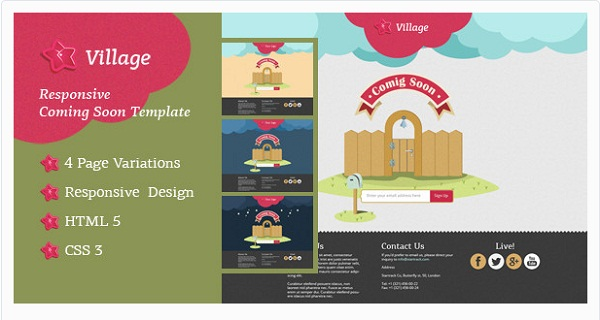 Village - Responsive Coming Soon Template