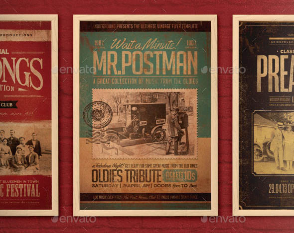 Vintage Flyer Poster Bundle Vol