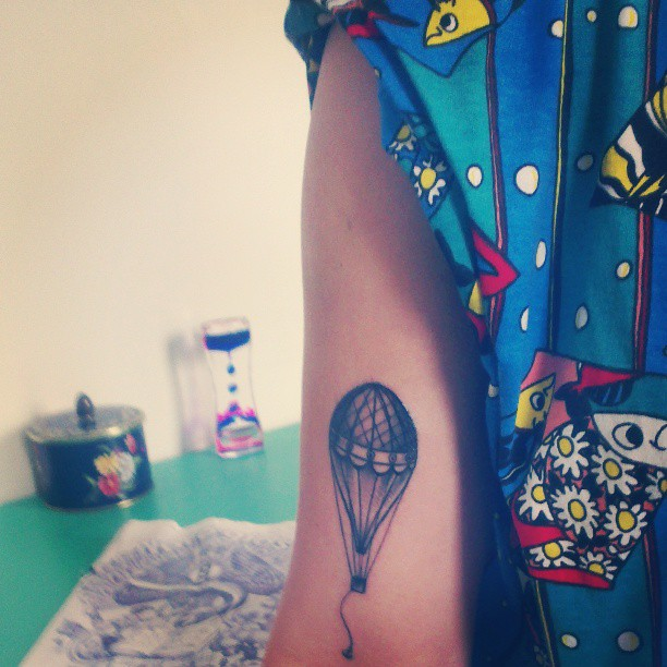 Air Balloon Tattoo For Girl