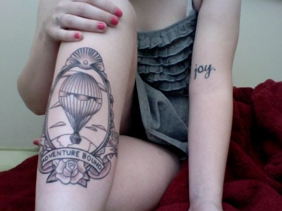 Balloon & Adventure Tattoo