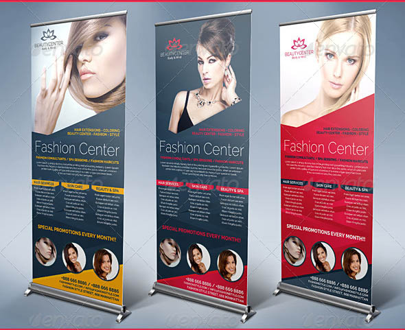 Beauty Center Spa Business Roll Up Banners
