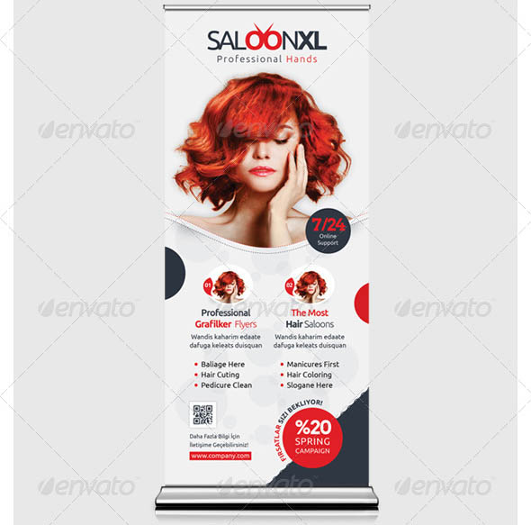 Beauty Saloon Roll-Up Templates