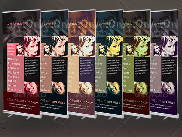 Beauty and Hair Salon Banner Template