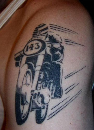 Black Biker Tattoo