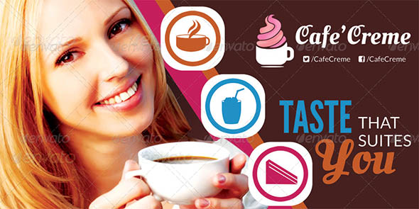Cafe Creme Billboard Banner