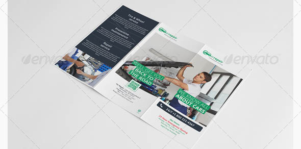 Car Repair Trifold Brochure