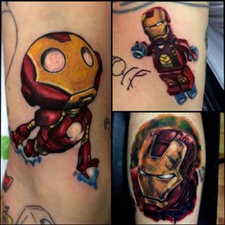 Cartoonic Iron Man Tattoo
