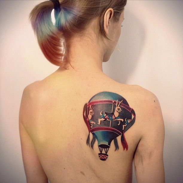 Cool Hot Air Balloon Tattoo