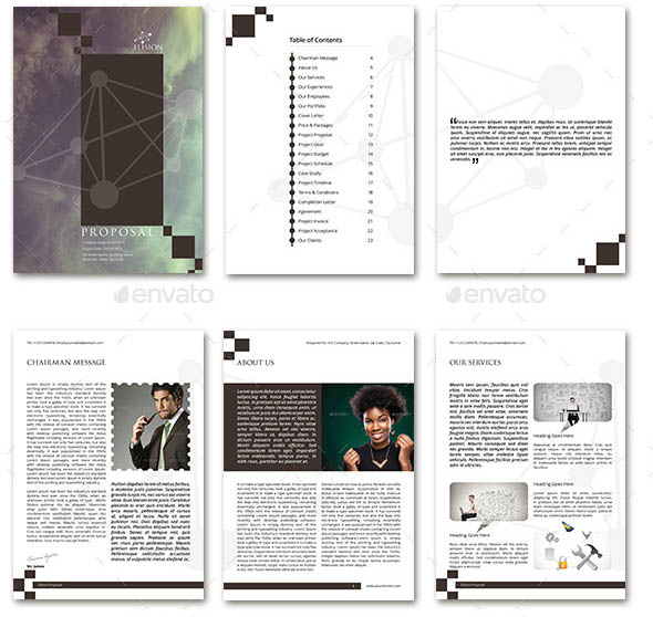 Elision Indesign Multi Business Proposals Bundle