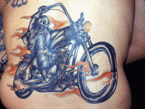 Ghost Rider Biker Tattoo