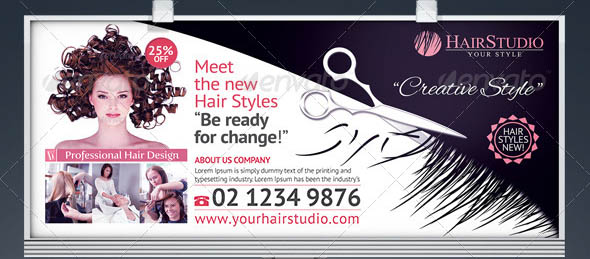 19 Cool Hair Salon Banner Amp Signage Psd Desiznworld
