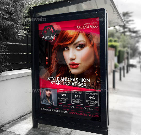 29 Cool Hair Salon Banner Signage Psds Desiznworld