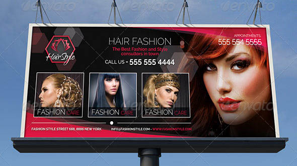 19 Cool Hair Salon Banner Signage Psd Desiznworld