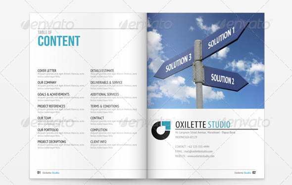 Cool Indesign Business Proposal Templates  Desiznworld