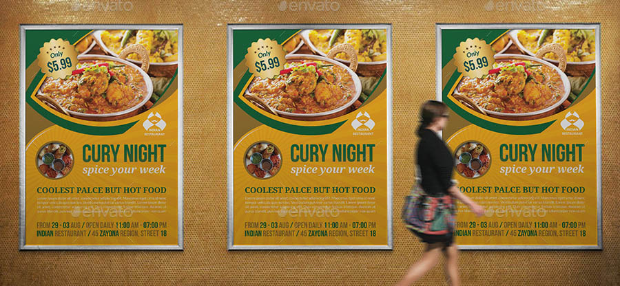 Indian Restaurant Poster Template