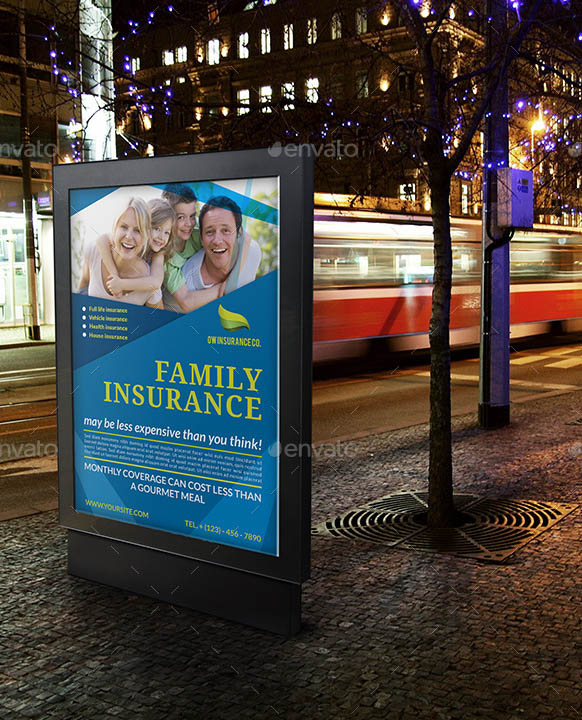 Insurance Poster Template