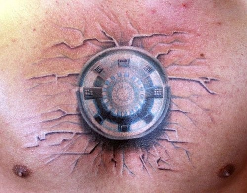 Iron Man Arc Reactor Tattoo