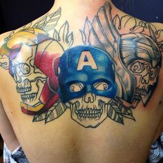 Iron Man Skull Tattoo