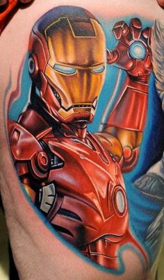 Iron Man Tattoo On Sleeve