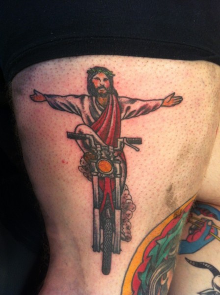 Jesus Motorcycle Tattoo