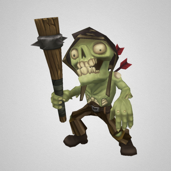 Low Poly Zombie Commoner